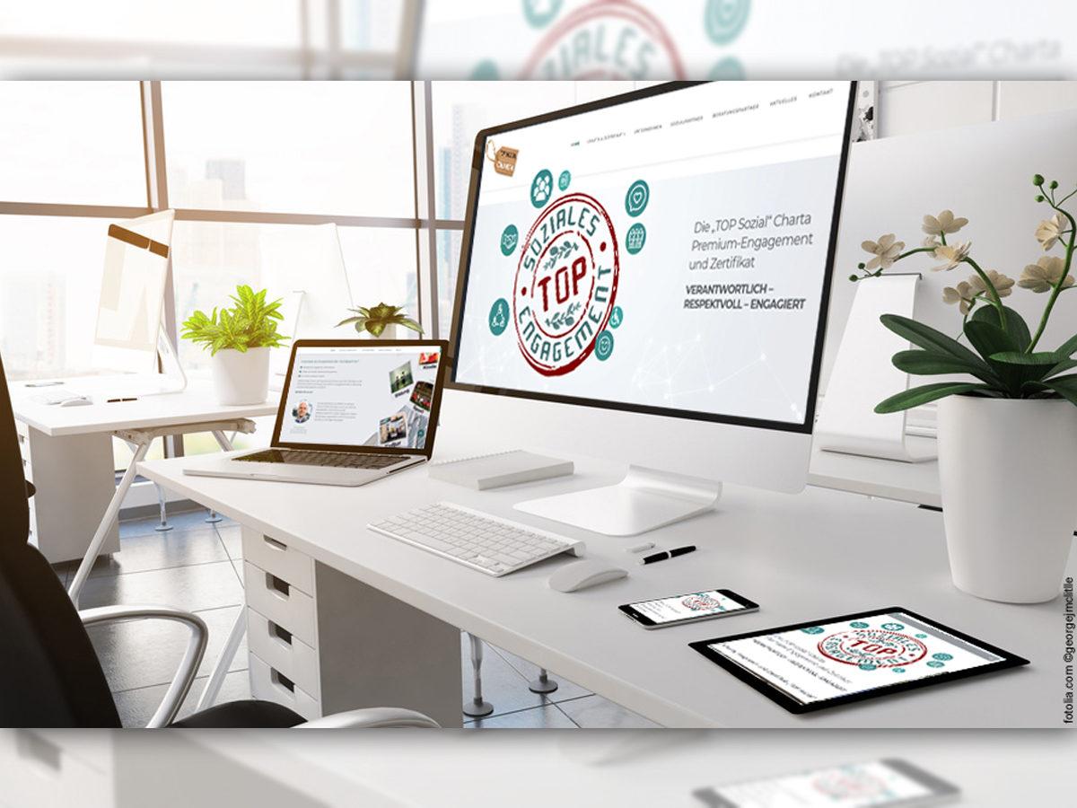 "Zertifizierte Corporate Social Responsibility Strategy durch die ""TOP Sozial"" Charta"