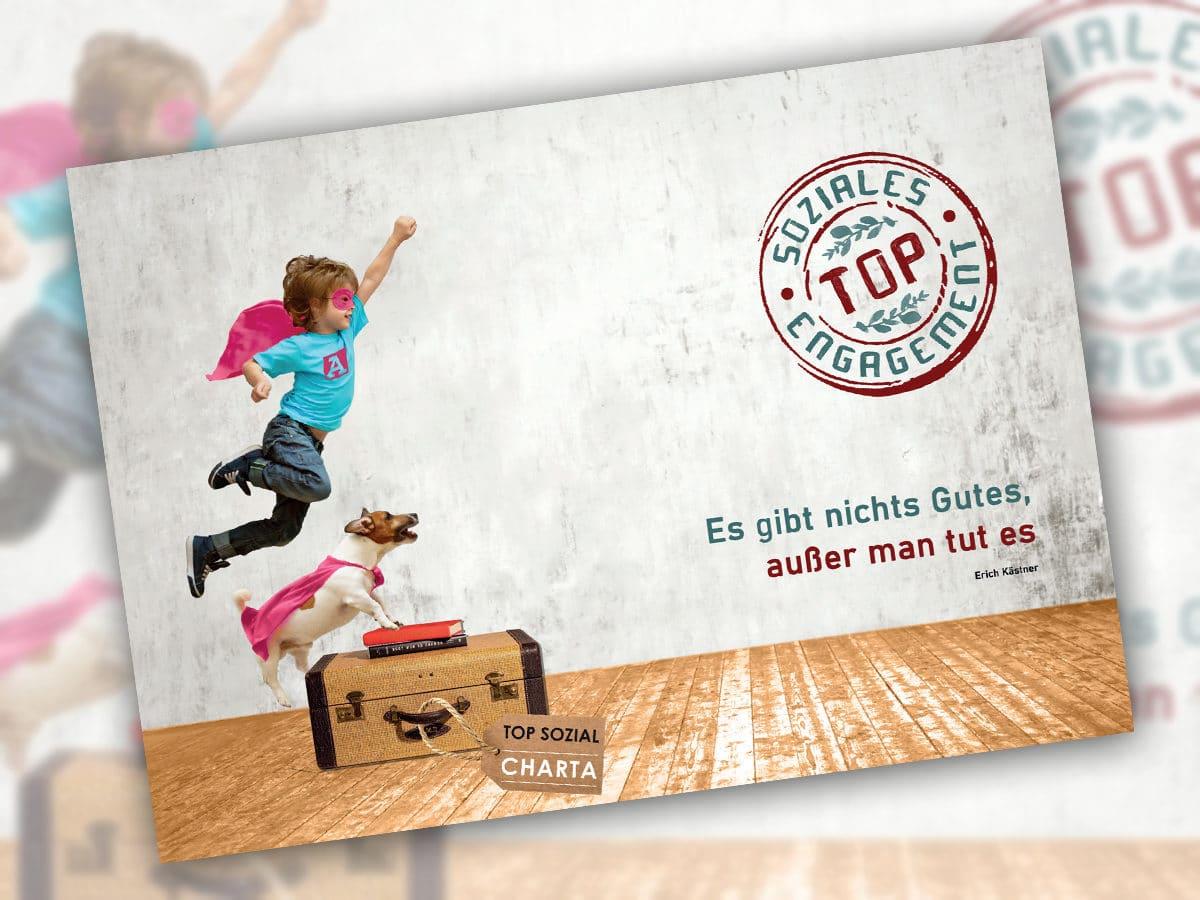 Wir freuen uns <br>über unsere<br> neue Postkarte