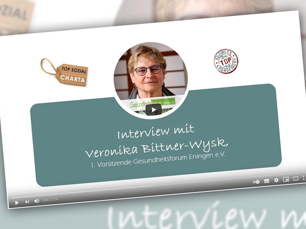 """Sozialpartner der """"TOP Sozial""""Charta - Interview Gesundheitsforum"""