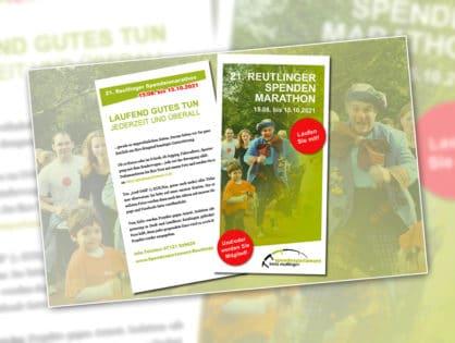 21. Reutlinger Spendenmarathon vom 15.08. bis 15.10.2021