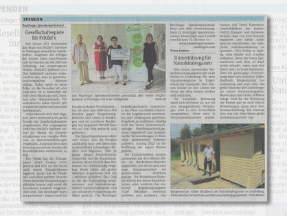 Reutlinger Spendenparlament unterstützt Sozialprojekt